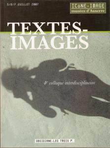 COLLOQUE TEXTES - IMAGES