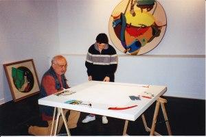 Montage de la rétrospective TELAMAQUE, 1999
