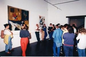 Rencontre d'Hervé Télémaque et des élèves, juin 1999